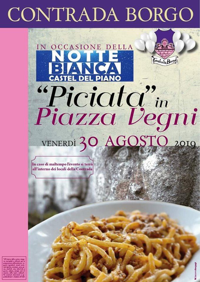 """Palio di Castel del Piano, Contrada Borgo: 30/09 """"Piciata"""" In PiazzaVegni"""