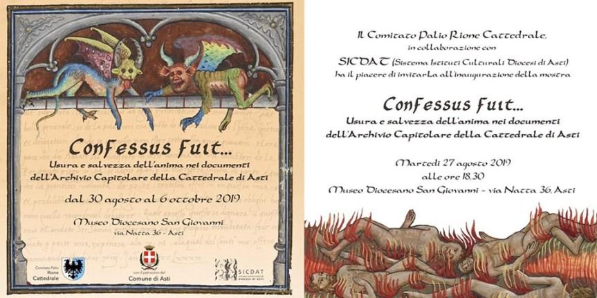"""Palio di Asti: Al Museo Diocesano """"Usura e salvezza dell'anima"""" la mostra del RioneCattedrale"""