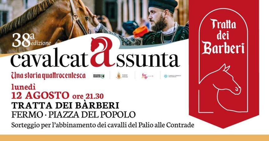 Cavalcata dell'Assunta Fermo: Oggi 12/08. Assegnati i 10 cavalli alle 10Contrade