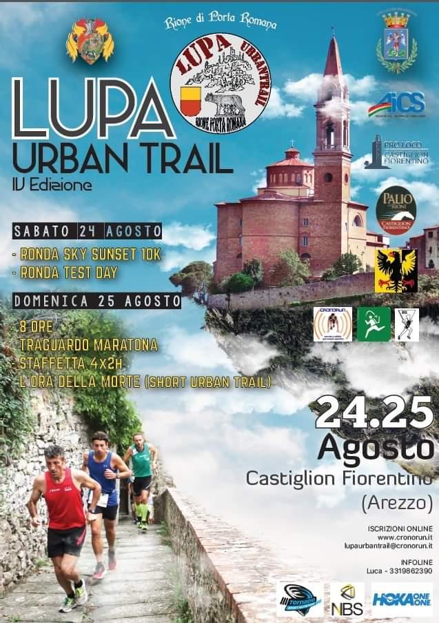 """Palio di Castiglion Fiorentino, Rione Porta Romana: 24-25/08 """"Lupa Urban Trail2019"""""""