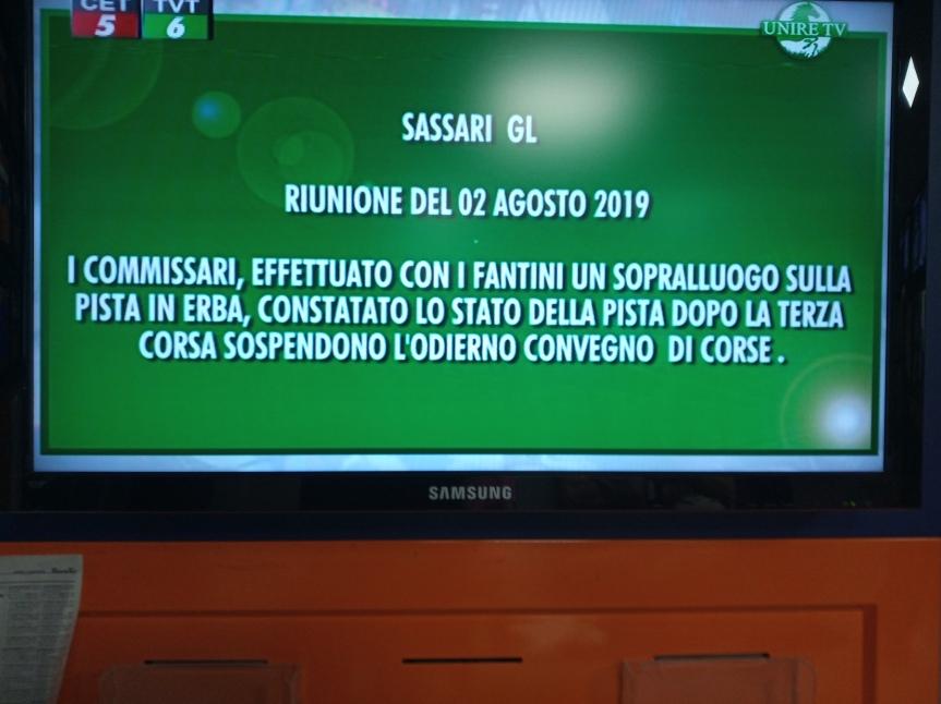 Ippica, Sassari: Oggi 02/08 2 Corsa Vince Abbaidda De Sedini poi convegnosospeso