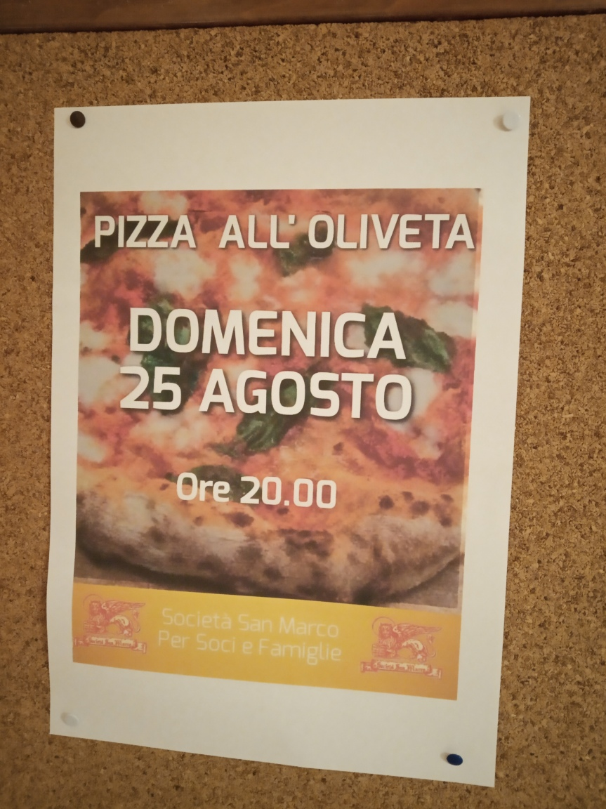 Siena, Società San Marco: 25/08 Pizza all'Oliveta