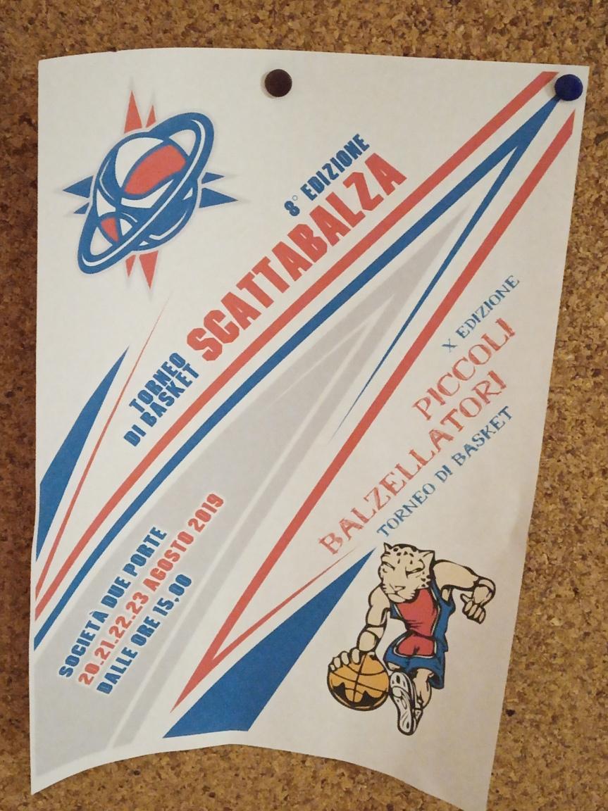 """Siena, Contrada della Pantera: 20-23/08 8 Edizione Torneo di Basket """"Scattabalza*"""