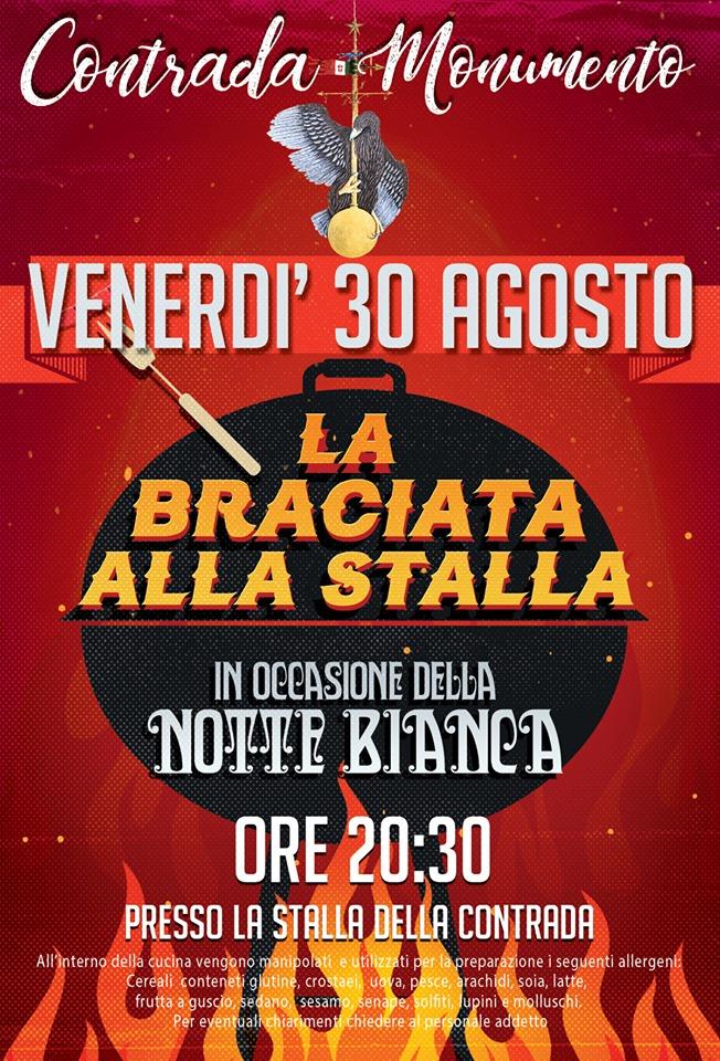 """Palio di Castel del Piano, Contrada Monumento: 30/08 """"La Braciata allaStalla"""""""