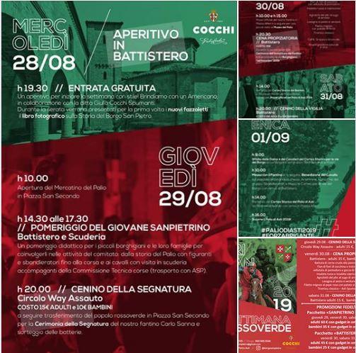 Palio di Asti, Borgo San Pietro: Oggi 29/08 Comunicazione del ComitatoPalio