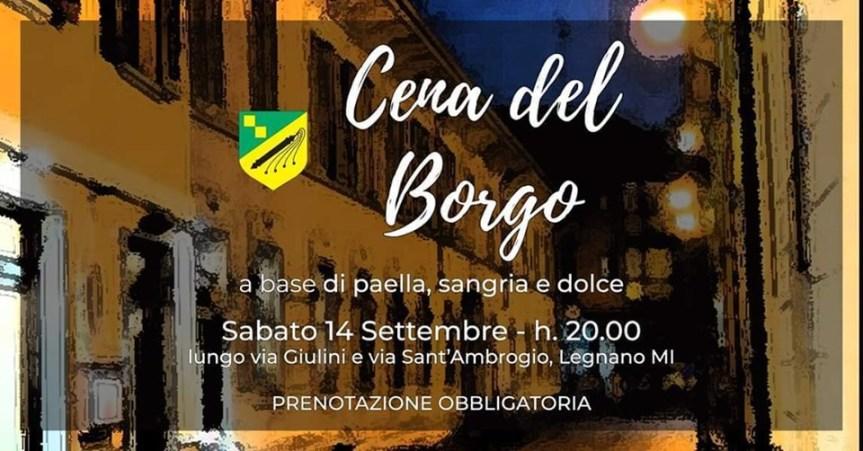 Palio di Legnano, Contrada Sant'Ambrogio: 14/09 Cena delBorgo