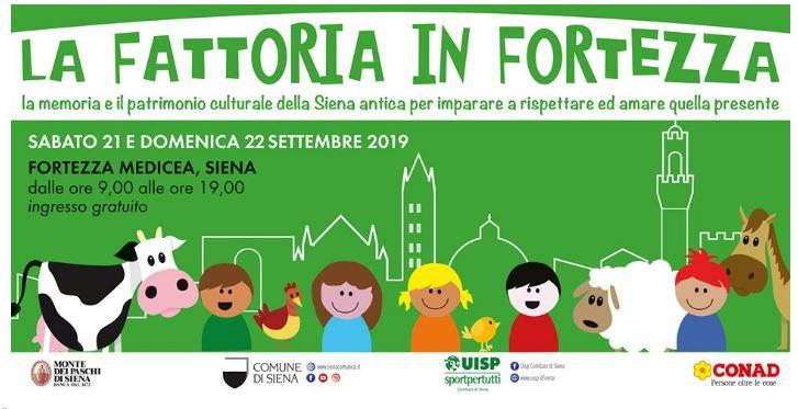 Siena: La Fattoria in Fortezza – 21 e 22 settembre2019