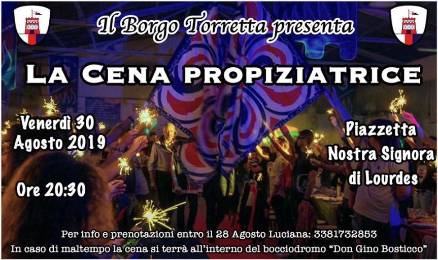 palio di Asti, Comitato Palio Borgo Torretta: 30/08 La Cena Propiziatrice2019