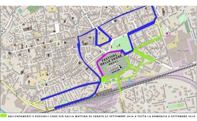 Asti, Douja d'Or e Festival delle Sagre: Le mappe con le modifiche allaviabilità