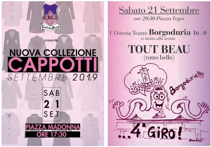 """Palio di Castel del Piano, Contrada Borgo: Oggi 21/09 Sfilata """"Nuova Collezione Cappotti"""" e Serata ToutBeau"""""""