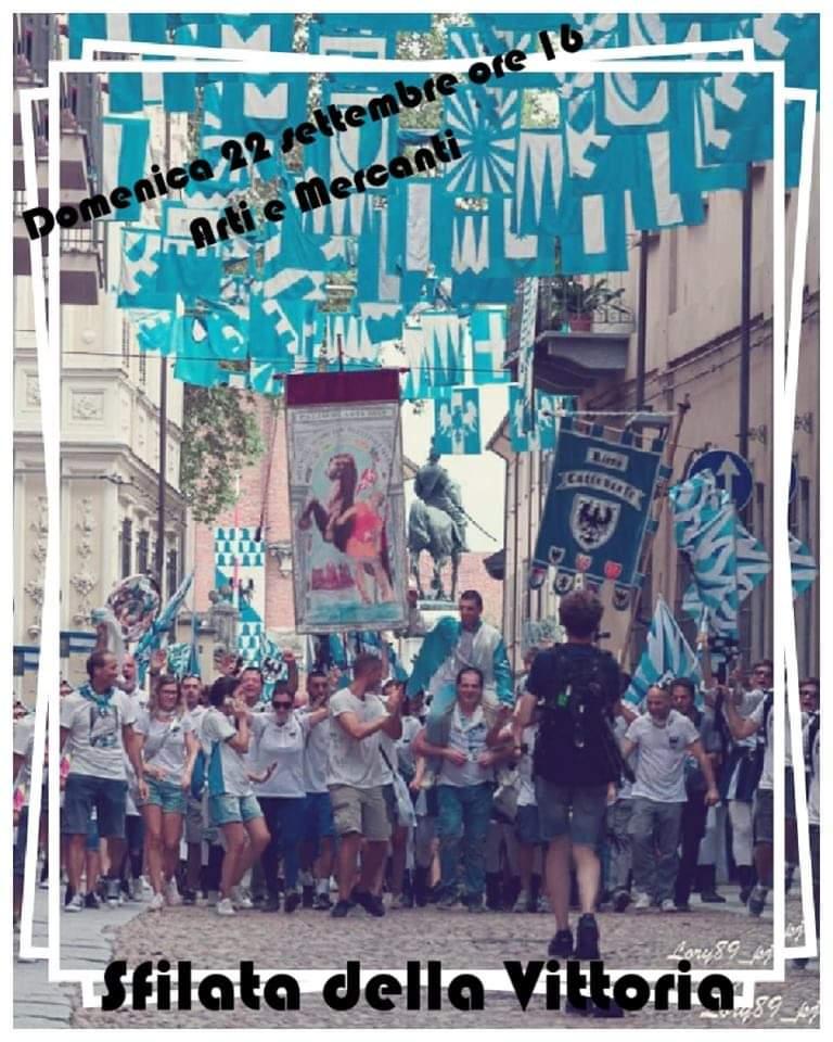 Palio di Asti, Comitato Palio Rione Cattedrale: Domani 21/09 ore 16.00 Corteo della Vittoria Palio2019