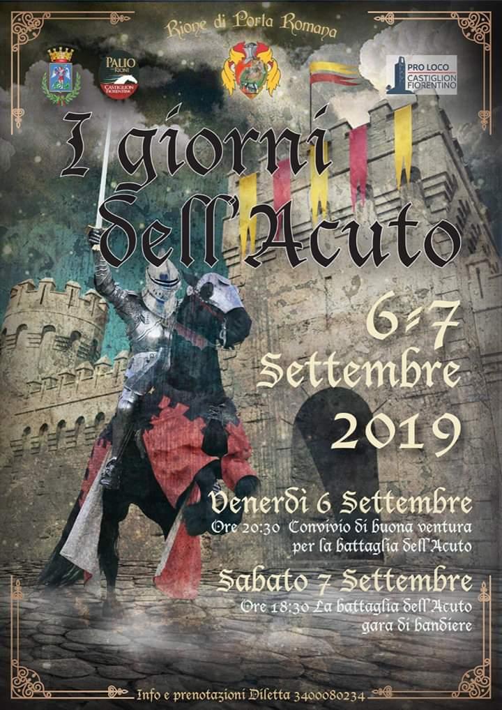Palio di Castiglion Fiorentino, Rione Porta Romana: 06-07/09Il Convivio e la battaglia dell'Acuto, Porta Romana si tuffa nel XIVsecolo