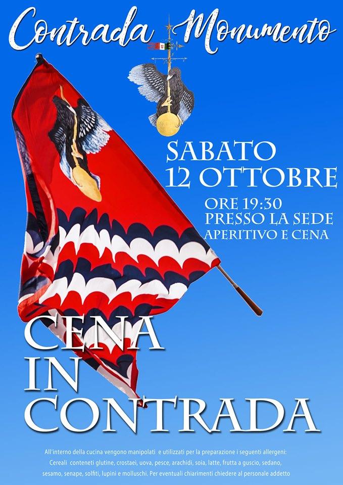 Palio di Castel del Piano, Contrada Monumento: 12/10 Cena inContrada
