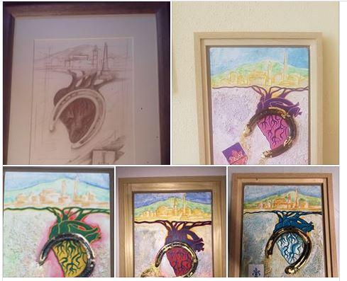 Palio di Castel del Piano: I Rioni e la Coop di Piancastagnaio ricevono un dono dalla pittrice SaraGuerrini
