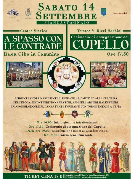 """Paluio di Piancastagnaio: Oggi 14/09 """" A spasso con leContrade"""""""