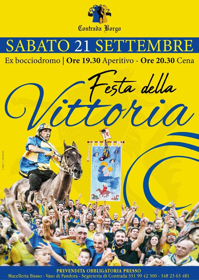 Palio di Piancastagnaio, Contrada Borgo: 21/09 Festa dellaVittoria