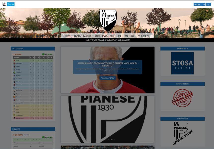 Provincia di Siena: La Pianese ha on line il nuovo sitointernet