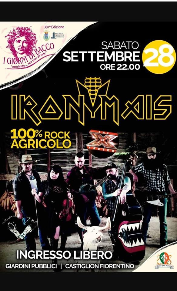 Palio di Castiglion Fiorentino, Terziere Porta Fiorentina: Oggi 28/09 Iron Mais – LiveShow
