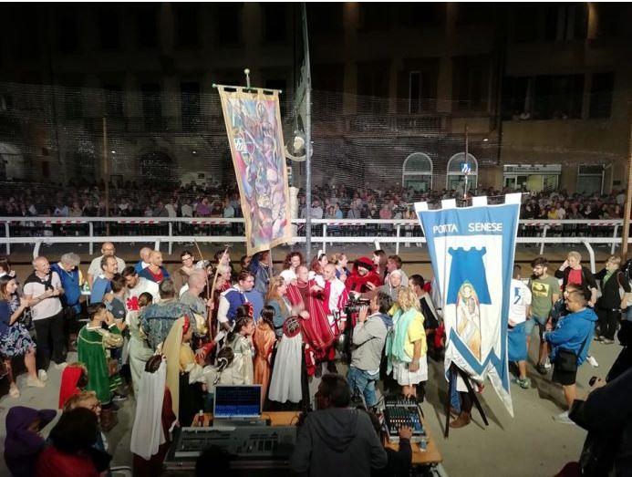 Palii: Palio di San Rocco. Porta Senese vince per la quarta volta consecutiva. E' recordstorico