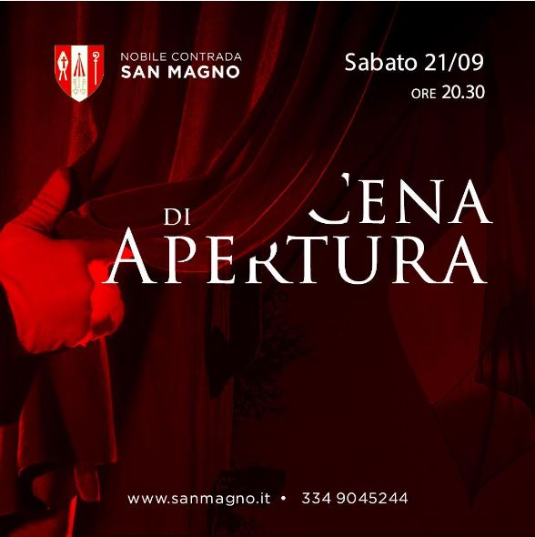"""Palio di Legnano, Contrada San Magno: 21/09 """"Cena diApertura"""""""