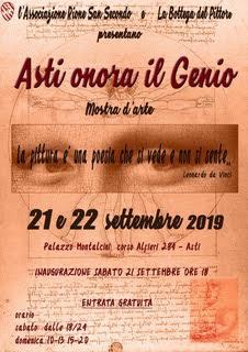 """Palio di Asti, Comitato Palio San Secondo: 21-22/09 mostra """"Asti onora ilGenio"""""""