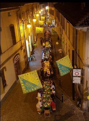 Palio di Legnano, Contrada Sant'Ambrogio: Resoconto Cena del Borgo del14/09