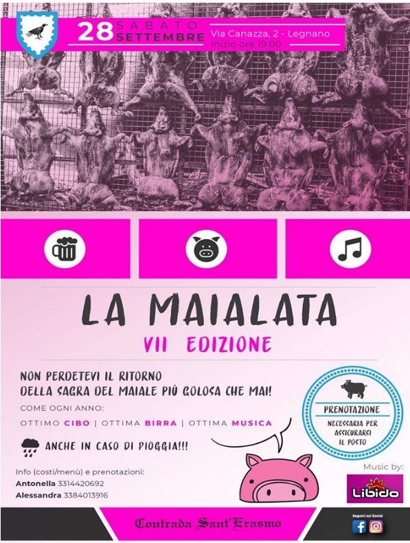 """Palio di Legnano, Contrada Sant'Erasmo: Oggi 28/09 """"La Maialata2019"""""""