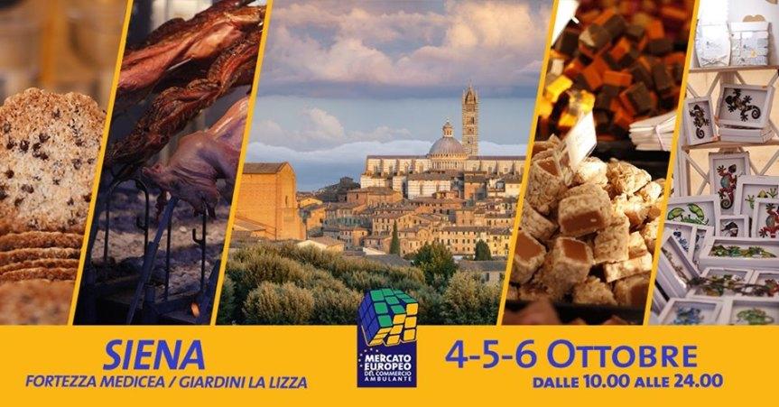 """Siena: 04-05-06/10 """"Mercato europeo del commercio ambulante"""". per la prima volta aSiena"""