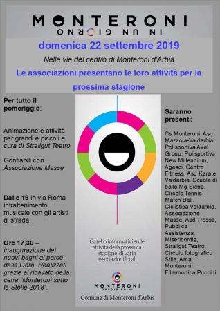Provincia di Siena: Domani 22/09 Tutta Monteroni e le sue attività si presentano inpiazza