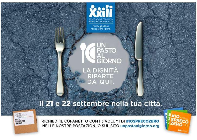 """Siena: Arriva l'iniziativa solidale """"Un pasto al giorno"""" tra cibo, solidarietà e """"sharinghumanity"""""""
