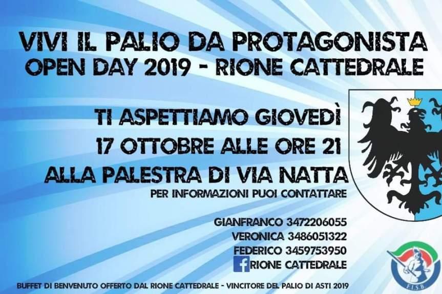 Palio di Asti, Comitato Palio Rione Cattedrale: 16-17/10 Open Day2019