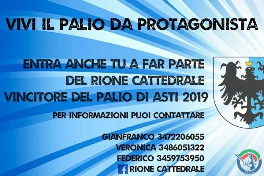 Palio di Asti, Rione Cattedrale: Vivi Il Palio da protagonista, fai parte dellaCattedrale