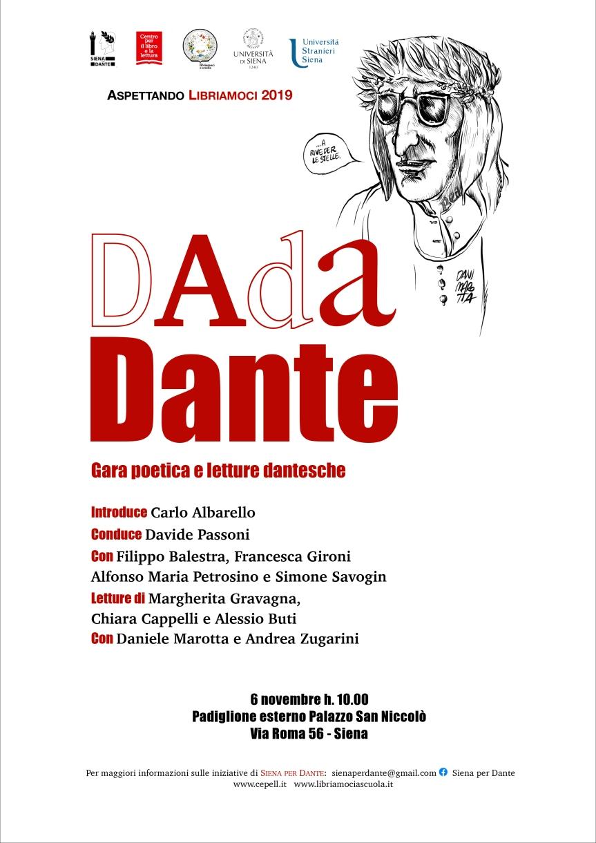 """Siena: 06/11 al San Niccolò presso il Padiglione Esterno spettacolo """"DadaDante"""""""
