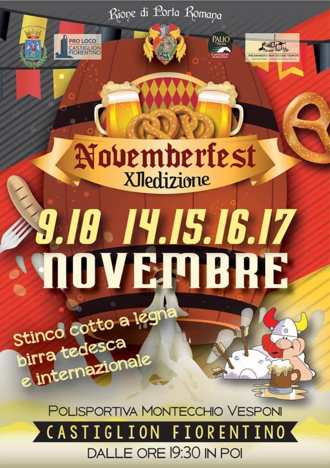 Palio di Castiglion Fiorentino, Rione Porta Romana: Trastinchi e birre, il Novemberfest cresce e si faverde