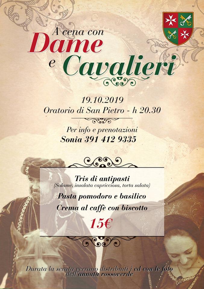 """Palio di Asti, Comitato Palio Borgo San Pietro: 19/10 """"A Cena con Dame e Cavalieri2019"""""""