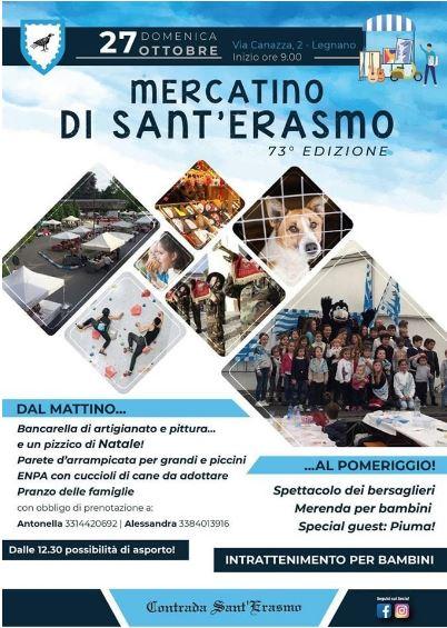 Palio di legnano, Contrada Sant'Erasmo: 27/10 73^ Edizione mercatino di Sant'Erasmo