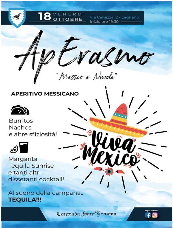 """Palio di Legnano, Contrada Sant'Erasmo: 18/10 Serata Messicana  Ap Erasmo """"Messico eNuvole"""""""