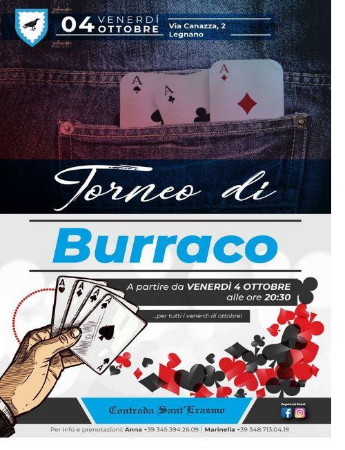 Palio di Legnano, Contrada Sant'Erasmo: 04/10 Torneo diBurraco