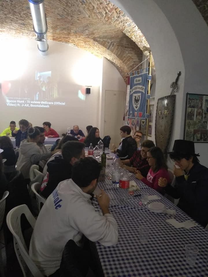 """Palio di Asti, Comitato Palio Rione Cattedrale: Resoconto """"Halloween Biancoazzurro """" di ieri31/10"""