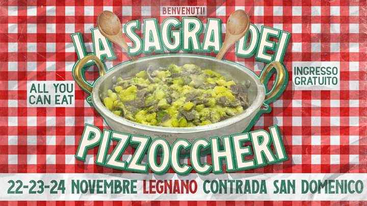 San Domenico la sagra dei Pizzoccheri all you can eat 22-23-24-11 2019