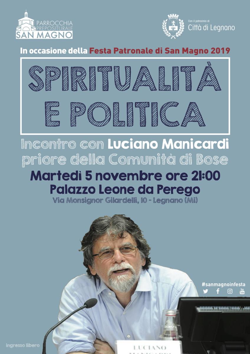 Legnano: Domani 05/11 ore 21.00 incontro con LucianoManicardi