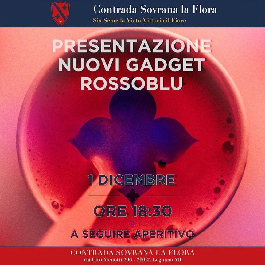 """Palio di Legnano, Contrada La Flora: 01/12 ore 18.30 """"Presentazione Nuovi GdgetRossoblu"""""""