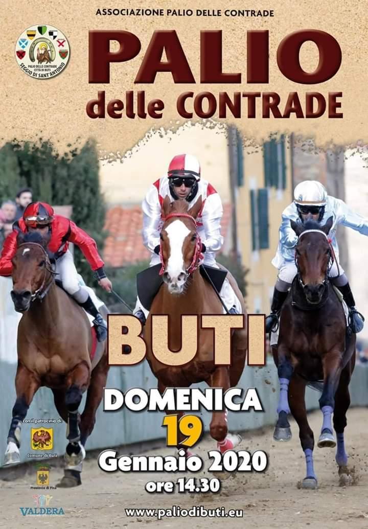 Palio di Buti: Le accoppiate fantino-cavallo Contrada per Contrada e le batterie del Palio di domenica19/01
