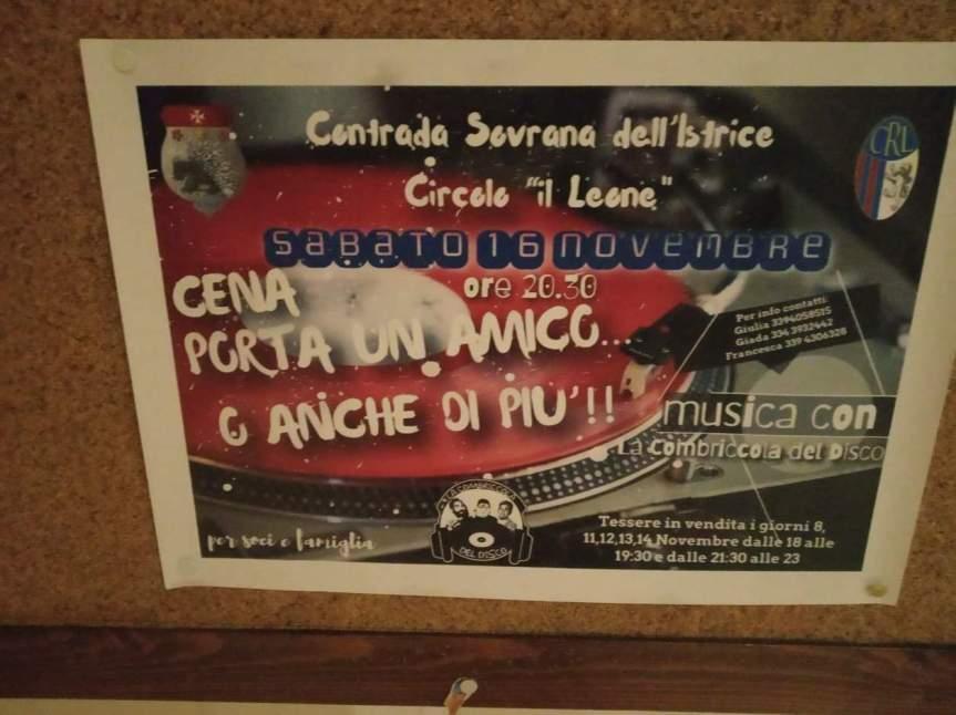 Siena, Contrada dell'Istrice: Domani 16/11 Cena porta un amico.. e anche dipiù