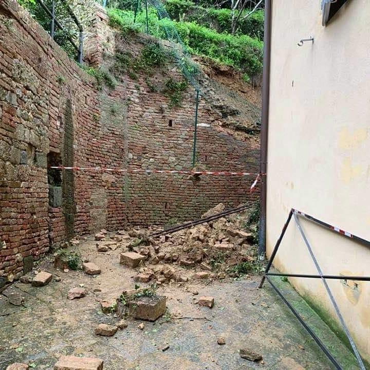 Siena: Maltempo, si aspetta l'intervento di messa in sicurezza in via delCostone