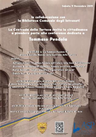 Siena, Contrada della Tartuca: Oggi 09/11 ore 17.00 Conferenza Stampa su Tommaso Pendola e Cena inSocietà