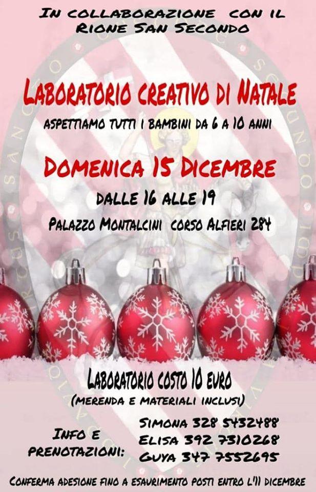 """Asti: 15/12 """"Laboratorio Creativo diNatale"""""""