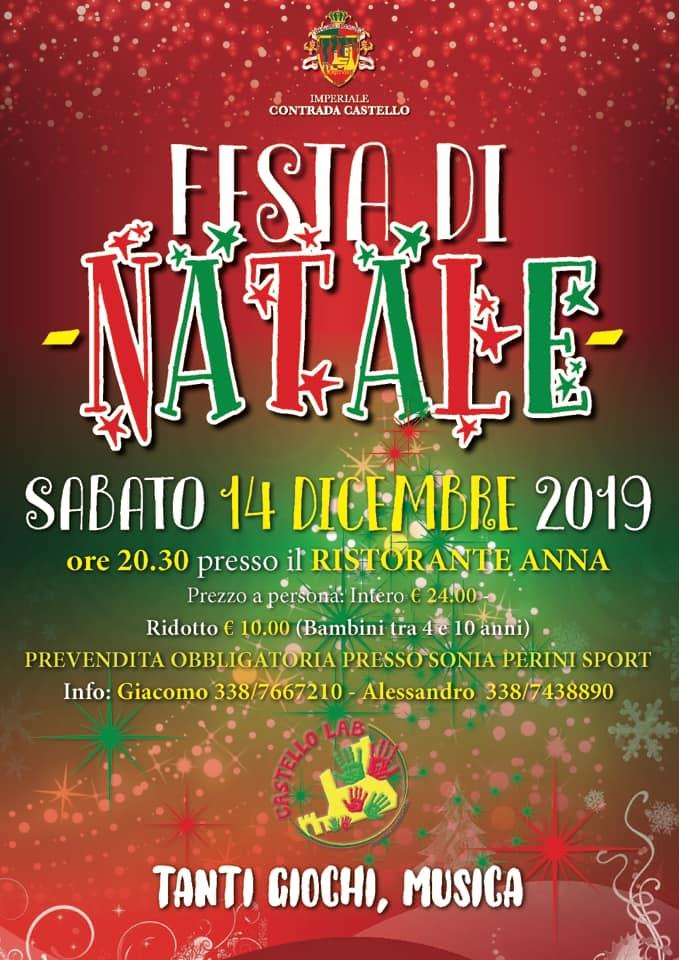 Palio di Piancastagnaio, Contrada Castello: 14/12 Cena diNatale