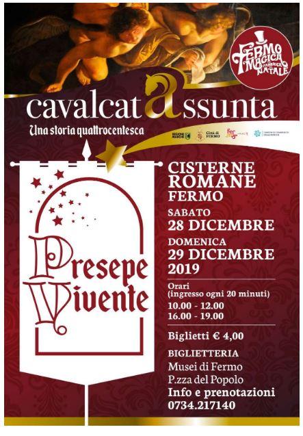 Fermo, Cavalcata dell'Assunta: 28-29/12  Nelle Cisterne romane appuntamento con il PresepeVivente