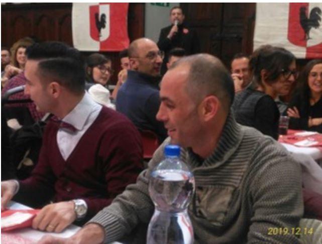 """Palio di Asti,Comitato Palio Rione San Secondo: Vater Pusceddu detto """"Bighino"""" presente alla Cena degli Auguri del14/12"""
